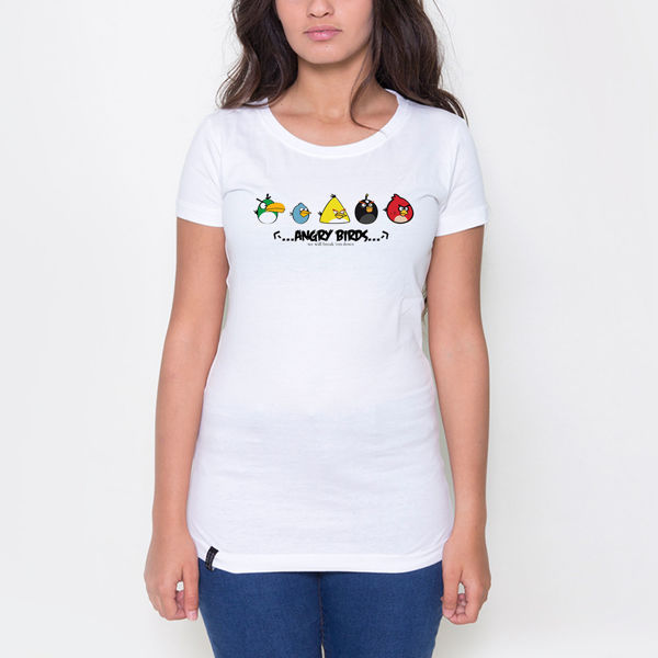 Picture of Angry Birds Cartoon Female T-Shirt