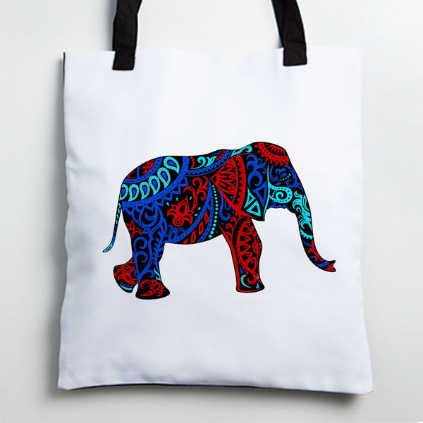 Picture of Colorful Elephant Tote bag