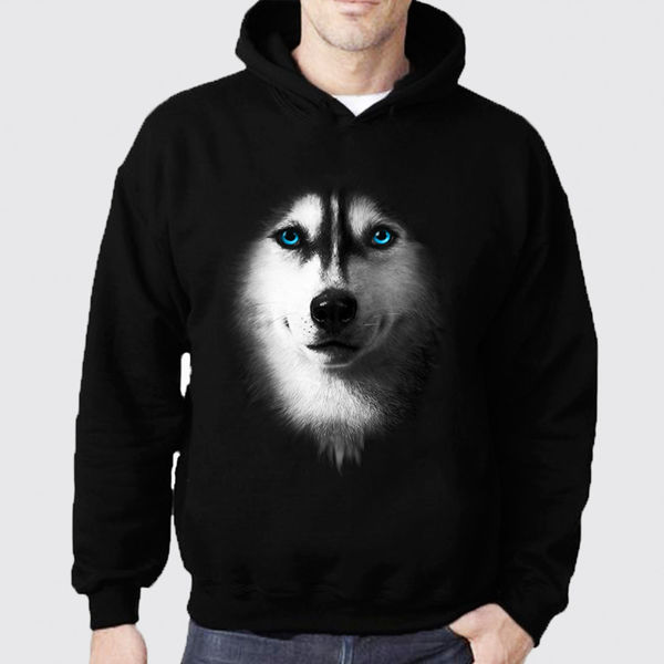 Picture of Wolf with colored eyes Hoodie