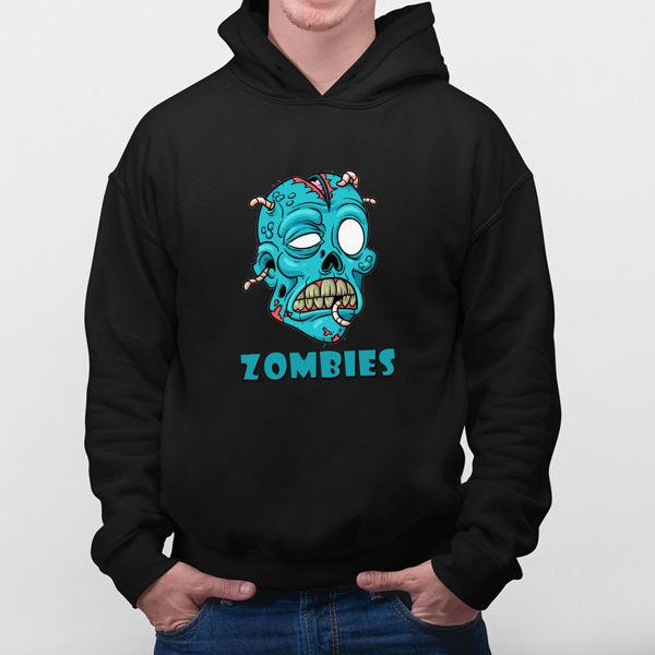 Picture of blue Skull hoodie