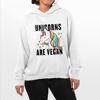 Picture of Unicorns are vegan Female Hoodie