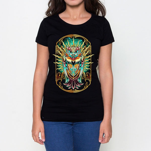 Picture of Owl colored Female T-Shirt
