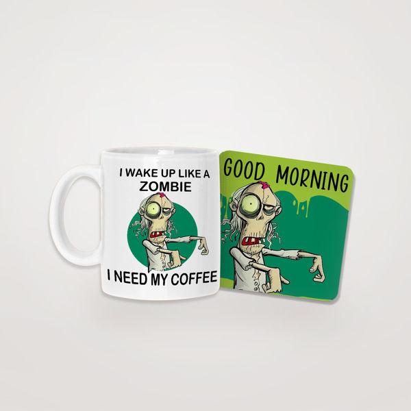 Picture of Like a Zombie Mug & Coaster
