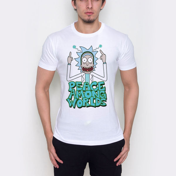Picture of Rick and Morty 'peace among worlds' T-shirt