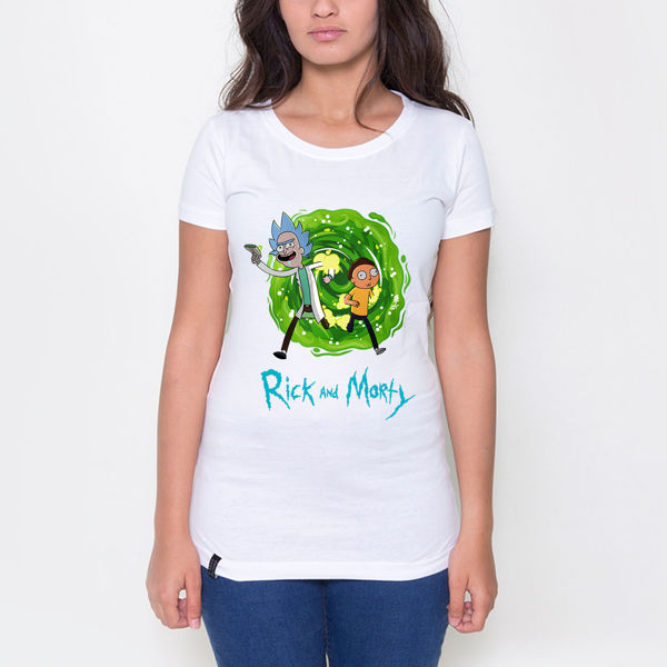 Picture of rick and morty female tshirt