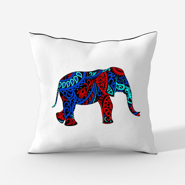 Picture of Colorful Elephant Cushion