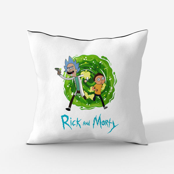 Picture of rick and morty Cushion