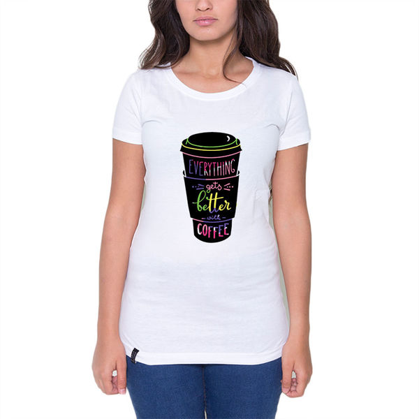 Picture of WITH COFFEE Female T-Shirt