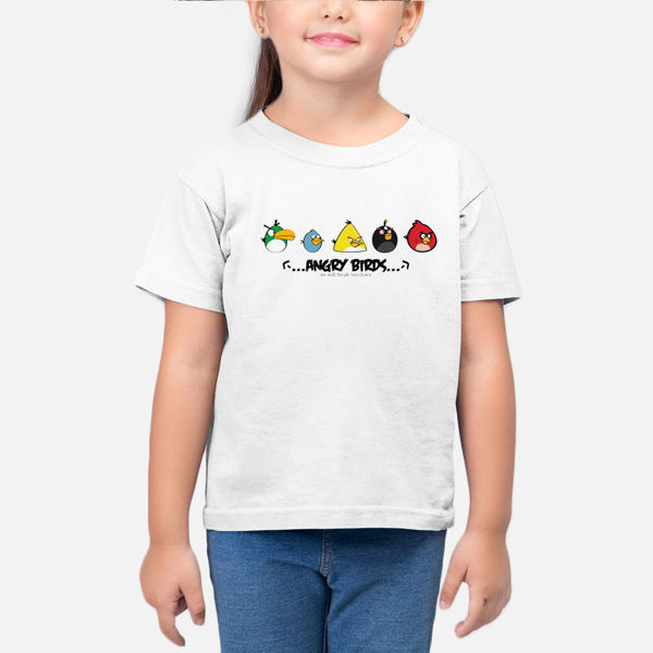 Picture of Angery Birds Cartoon Girl T-Shirt