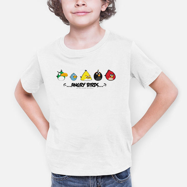 Picture of Angery Birds Cartoon Boy T-Shirt