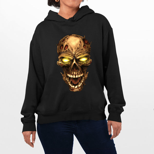 Picture of Golden Skull Female hoodie