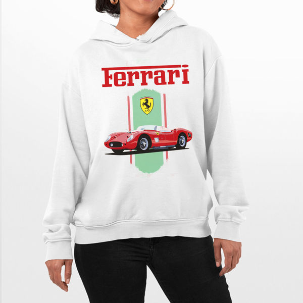 Picture of Red Car Ferrari Female Hoodie