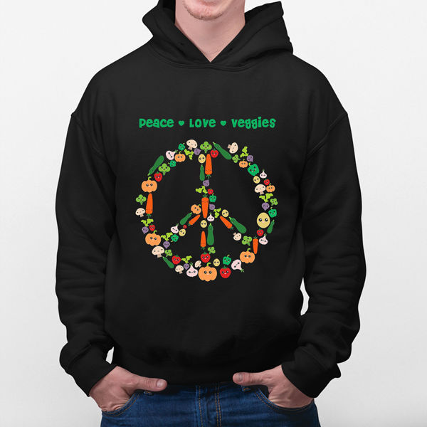 Picture of Peace, Love and veggies Hoodie