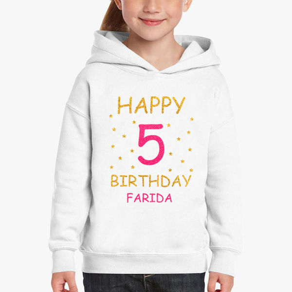 Picture of birthday party girl Hoodie
