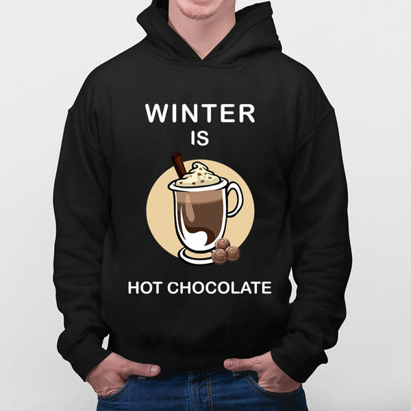 Picture of Winter is hot chocolate Hoodie