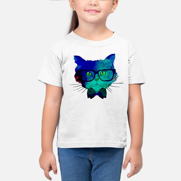 Picture of Colorful cat Girl T-Shirt