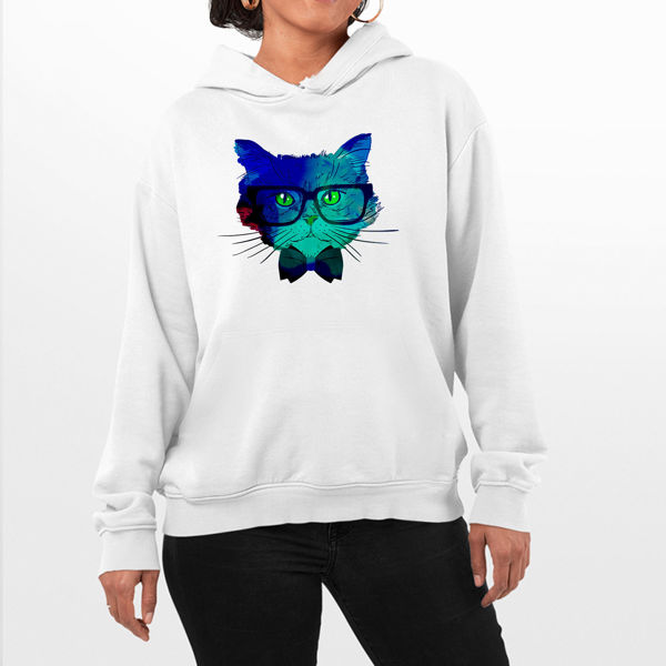 Picture of Colorful cat Female Hoodie