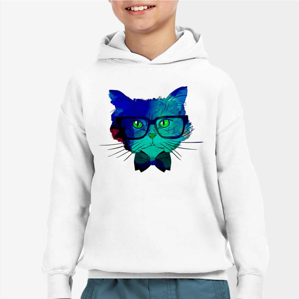 Picture of Colorful cat Boy Hoodie