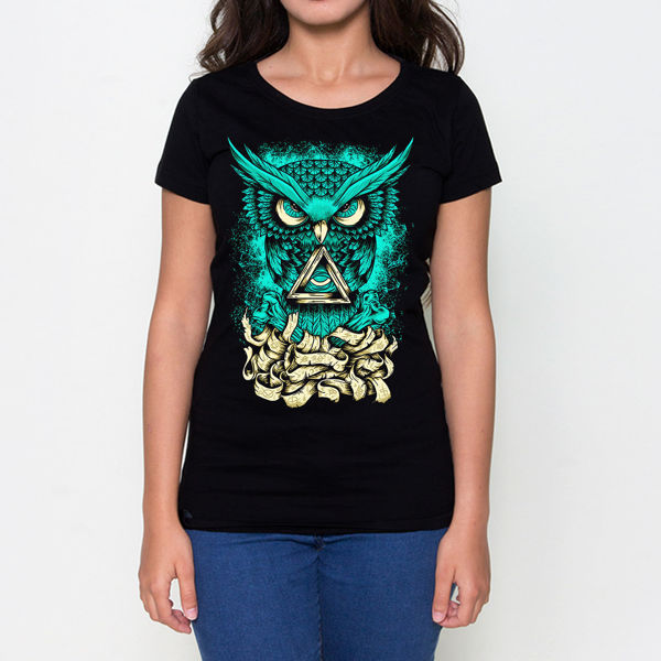 Picture of GREEN OWL Female T-Shirt