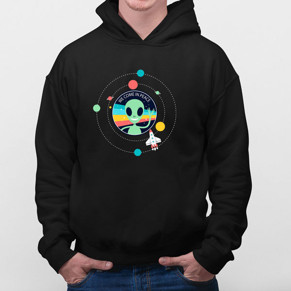 Picture of We come in peace Hoodie