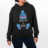 Picture of winter is here female Hoodie