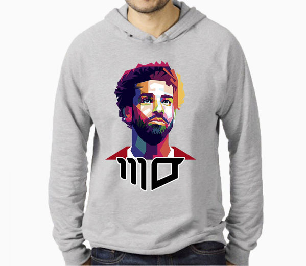 Picture of mo salah  male Hoodie