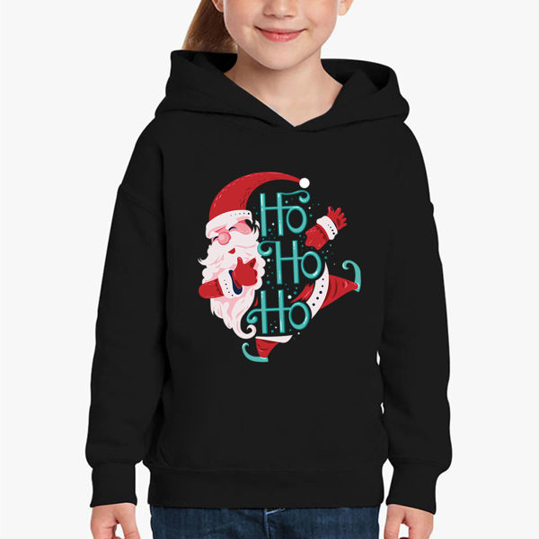 Picture of santa claus ho ho  girl Hoodie