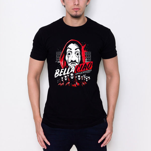 Picture of la casa de papel bella ciao male T-shirt