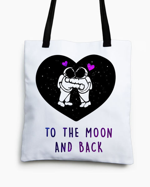 Picture of To the moon Tote bag