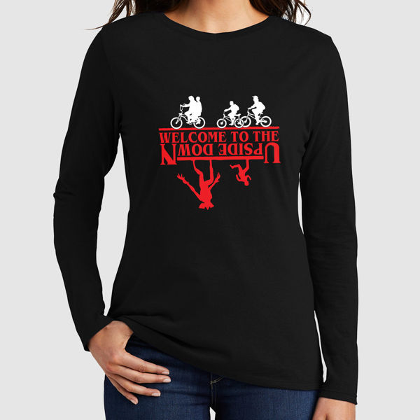 Picture of stranger things upside down female long sleeves