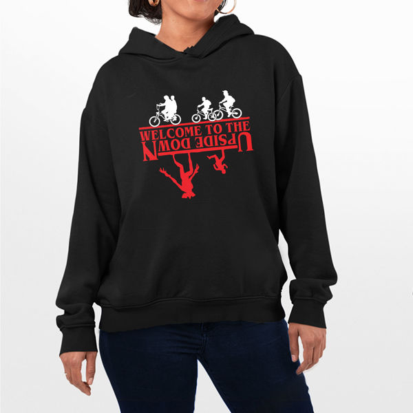 Picture of stranger things upside down  female Hoodie