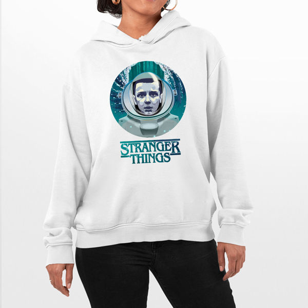 Picture of stranger things water  female Hoodie